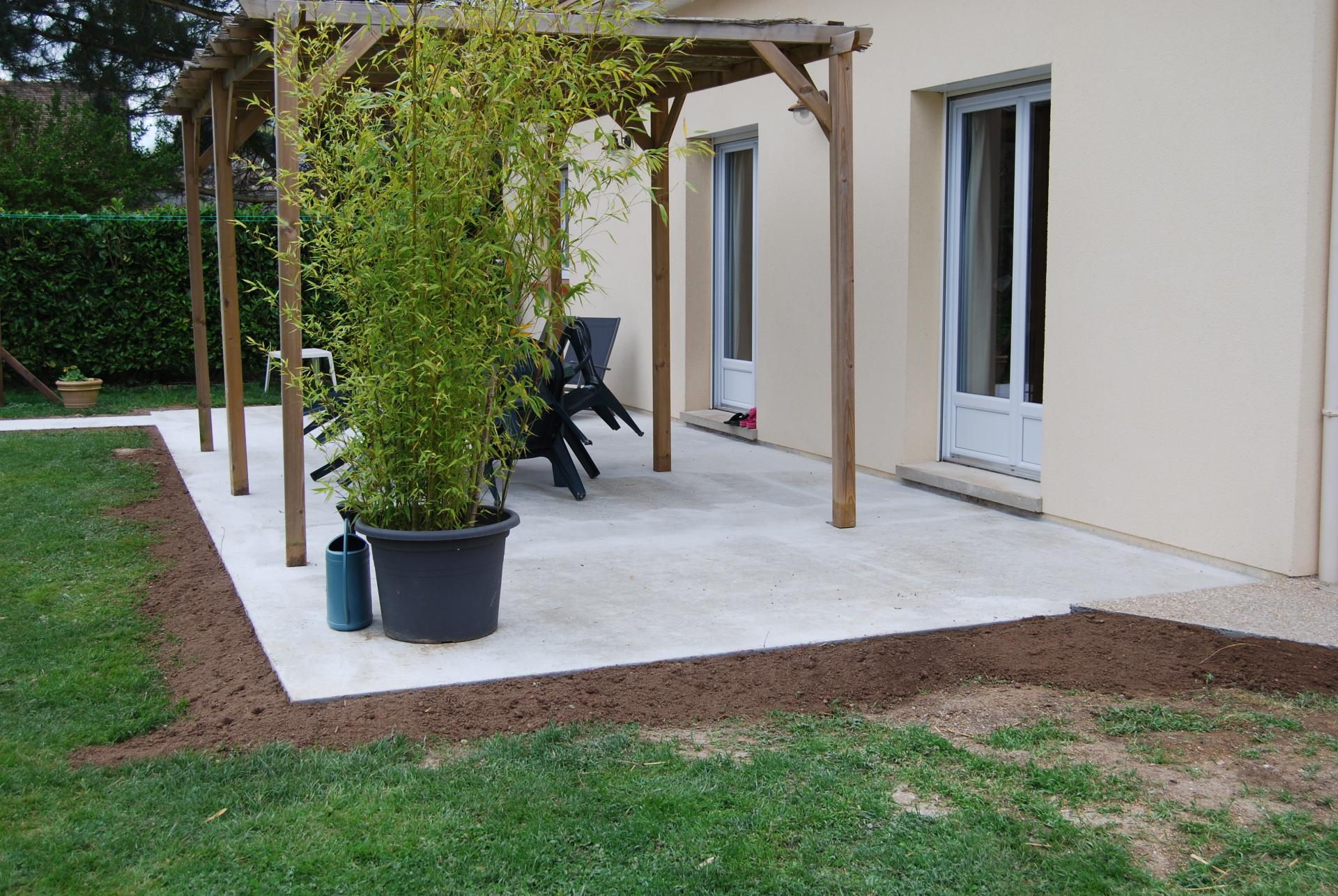 Terrasse louviers acquigny for Photos amenagement exterieur