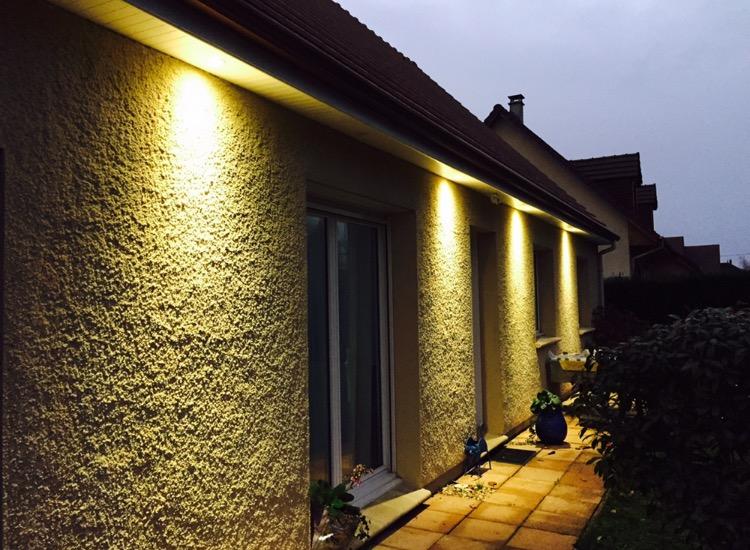 Eclairage led sur facade à Louviers
