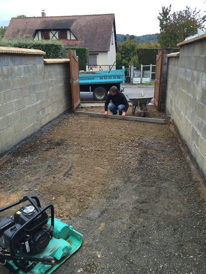 Préparation des sols à Louviers