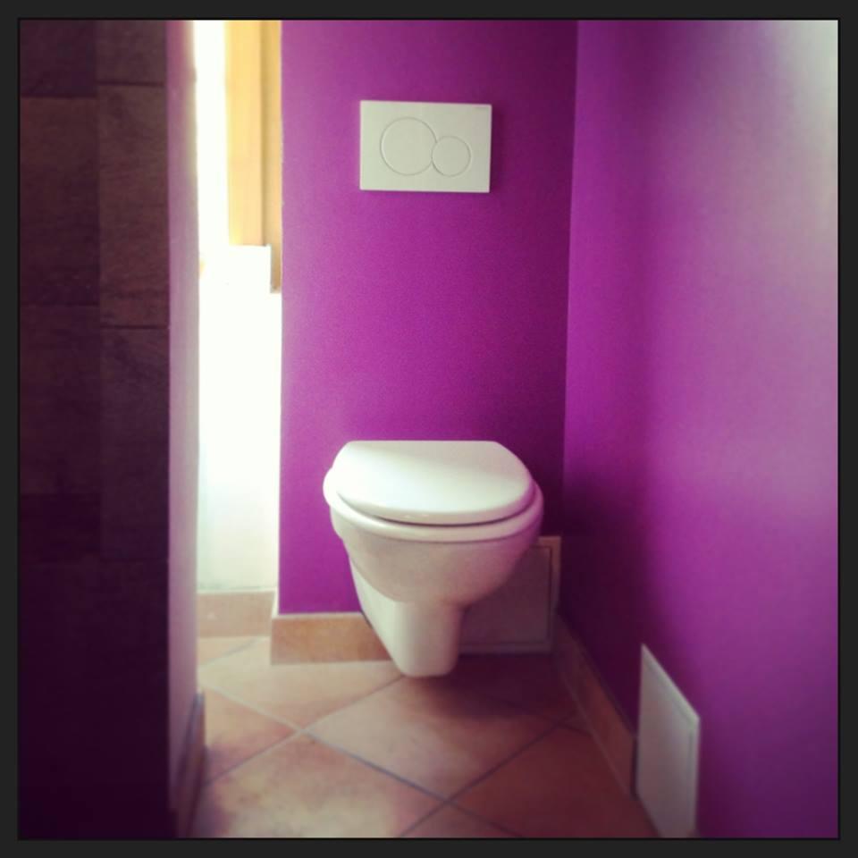 Rénovation de salle de bain wc suspendu à Acquigny