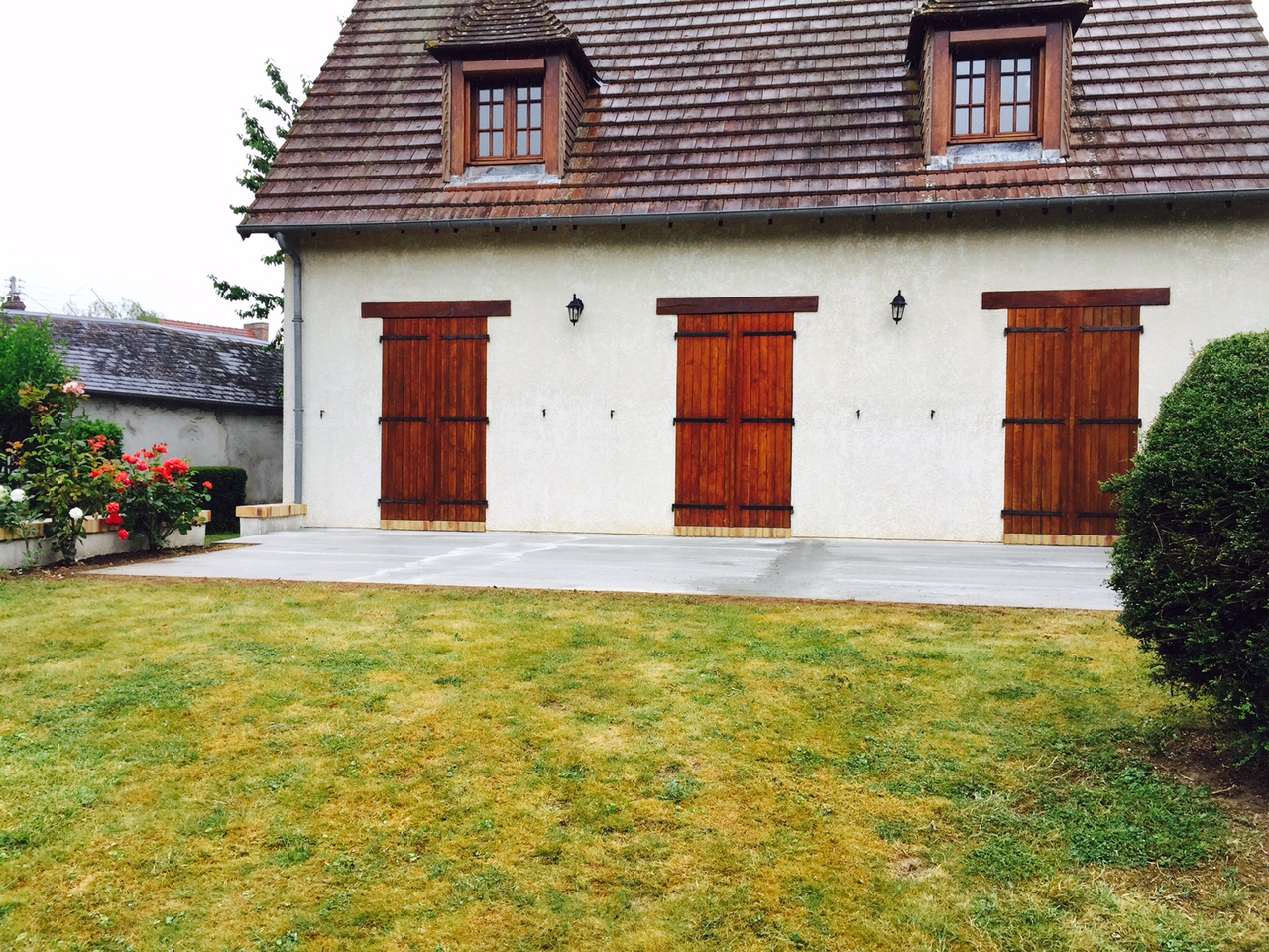 Terrasse en béton armé à Louviers